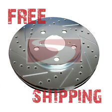 FRONT Performance Cross Drilled Slotted Brake Disc Rotors TB31275