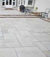 Indian Sandstone Paving Natural Slabs Kandla Grey Patio Pack 1 Sqm