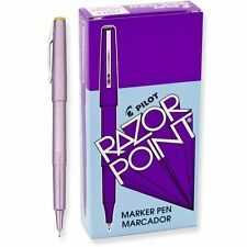 Pilot SW-10PP Razor Point Pen, Ultra Fine, Purple (PIL 11013) - 12/pk
