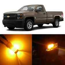 Alla Lighting Turn Signal Light 3157A Amber LED Bulbs for 99~13 Chevy Silverado
