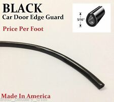 BLACK DOOR EDGE GUARD PROTECTOR TRIM MOLDING - SOLD BY THE FOOT - Price Per/Ft