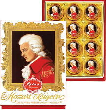 6 X Reber Mozart Chocolate - Kugeln Marzipan -  12 pcs Portrait box- 240 grams