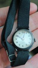 Old solid silver ladies wristwatch