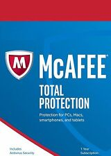 Mcafee total protection 2017,1 ans plus tard unlimited appareils, no dvd