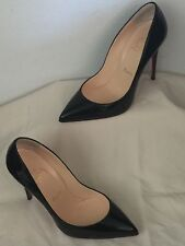 Christian Louboutin Pigalle Follies (100mm) Black Patent Pumps Size 37