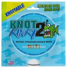 Knot 2 Kinky Nickel-Titanium Leader Wire 55lb(25kg) 15ft(4.6m) Single Strand