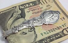Sterling Silver Money Clip, Niagara, Maid Of The Mist, Native, Indian (bin # 61)