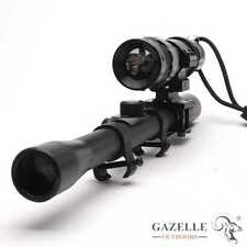 Outdoor Hunting 4X20 Gun Air Rifle Scope & Adjustable CREE Q5 LED Torch Light