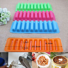 DIY Creative Silicone Cylinder Ice Cube Tray Freeze Mould Cookies Chocolate Mold
