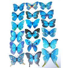 12x 3D Butterfly Wall Sticker Fridge Magnet Room Decor Decal Applique New