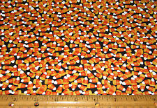 1 yard of CANDY CORN on BLACK 100% cotton fabric HALLOWEEN