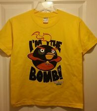 New Angry Birds Space I'm The Bomb Youth Medium T-shirt Video Gaming Tee