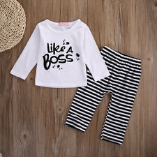 Infant Kids Newborn Baby Boy Girl Tops+Pants Clothing Outfits Sets Xmas Gift