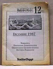 DIRITTO & FISCO MESE 12 - Dicembre 1987 [guida fiscale, italia oggi]