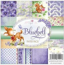 """New Wild Rose PAPER PACK SET 6 X 6""""  BLUEBELL  36 sheets free usa ship"""