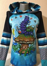 DiY Alice In Wonderland Hoodie Cheshire Cat Goth Unique Regular or 1X Plus Size