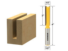 "Straight Router Bit - 1/2"" Dia. X 2"" Length - 1/2"" Shank - Yonico 14150"