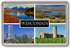 FRIDGE MAGNET - WISCONSIN - Large - USA America TOURIST