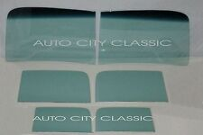1946 1947 FORD PANEL DELIVERY TRUCK  2PC WINDSHIELD DOORS  BACK GLASS GREEN