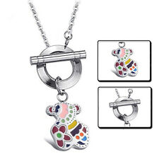 New  Jewelry Little Bear Cute Style Chain Pendant Teddy Titanium Steel Necklace