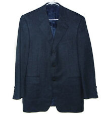 Canali Mens Sport Coat Sz 40R Blue 100% Pure Wool Made in Italy 3 BTN
