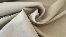 Linen flax fabric by the metre. Natural, raw, heavy, unbleached, undyed, rustic
