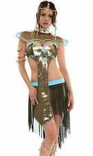 "SEXY CLEOPATRA COSTUME DELUXE EGYPTIAN QUEEN ""PYRAMID PRISS"" OUTFIT FORPLAY XS S"