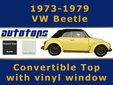 1973-1979 VW Beetle Convertible Top and Plastic Window