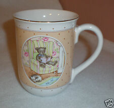 "Otagiri Ceramic Coffee/Tea Mug ""Bear Reading"" Lovely Design - Made in Japan-EUC"