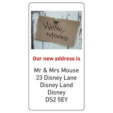 Personalised New House Home We are Moving Address Labels Stickers -ref 094