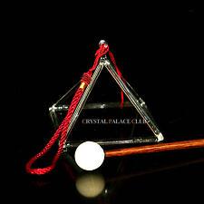 """Optically Clear Quartz Crystal Singing Pyramid 3"""" Crystal Singing Bowl"""