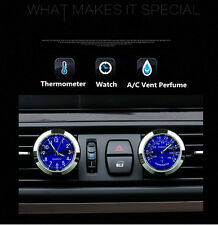 Universal Car SUV Clock Watch Thermometer A/C Vent Clip Refill Fragrance Reserve