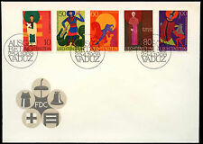 Liechtenstein 1968 Patrons Of The Church Definitive FDC First Day Cover #C16554