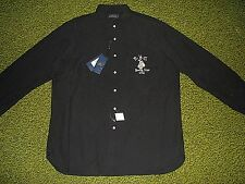 Men's $145.(XL) POLO-RALPH LAUREN Black BOXING CLUB-NEW YORK Shirt