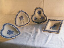 "Wedgwood ""Blue on White Jasper Ware "" Full set of Card Pin Tray's, very rare !!"