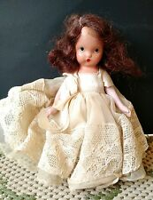 Vintage Nancy Ann Story Book Bisque Doll w/ White Lace Dress Pudgy