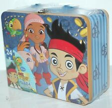 DISNEY JAKE & THE NEVERLAND PIRATE TIN LUNCH BOX  PUZZLE CASE 24 PCS PUZZLES