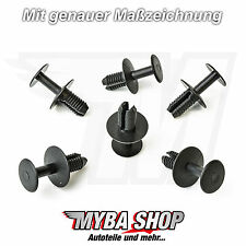 15x roue clips fixation support Mercedes BMW volvo... colliers Noir NEUF