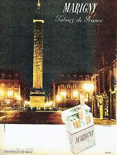 PUBLICITE ADVERTISING 066  1961  Les cigarettes Marigny par A.Dumage place Vendo