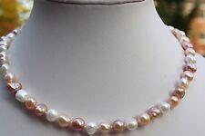 Br2b 45cm Acqua dolce allevamento perle gioielli Perline Catena Collana Collier Catene!
