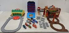 Thomas the Train Take N Play RESCUE FROM MISTY ISLAND +TIDMOUTH SHEDS ROUNDHOUSE