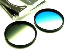 72mm Graduated Grey & Blue Filters Set For Canon Nikon Sony Lens & Others