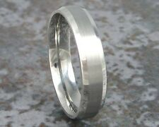 Men's Titanium Wedding Ring Custom Band Made to ANY Width and Sizing 3-22
