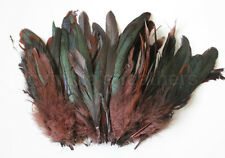 "100+ pcs.(16grams) 6-8"" half bronze brown schlappen coque rooster feathers, NEW"
