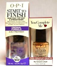 OPI START to FINISH Original Formula- 3 in 1 treatment Free My Vampire is Buff