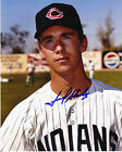 FRED STANLEY  CLEVELAND INDIANS     ACTION SIGNED 8x10
