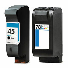 2 Pack 45 & 78 Ink Cartridge Fits HP OfficeJet G55 G55xiG85 G85xi G95 K60 K80