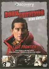 BORN SURVIVOR BEAR GRYLLS LAST FRONTIER - 3 DVD BOX SET - BAJA DESERT & MORE