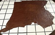 """Smooth """"Crunchy Toffee Candy"""" Brown Scrap Leather Hide Approx. 26 sqft. G22M16-7"""