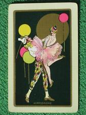 "Rare Vintage 1920's Art Deco Swap Card ""Hippodrome"" w/ Gold Overlay MINT WOW A+"